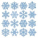 Fiocchi di neve illustrazione vettoriale