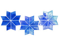 Fiocchi di neve astratti dell'acquerello Fotografie Stock Libere da Diritti