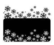 Fiocchi di neve bianchi di vettore Immagine Stock