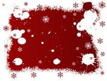 Fiocchi di neve bianchi e rossi royalty illustrazione gratis