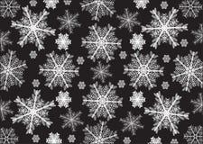 Fiocchi di neve bianchi, fondo nero Fotografia Stock Libera da Diritti