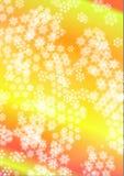 Fiocchi di neve bianchi nei precedenti iridescenti Illustrazione di Stock