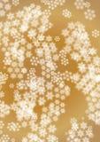 Fiocchi di neve bianchi nei precedenti marroni Illustrazione Vettoriale