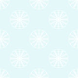 Fiocchi di neve bianchi su fondo blu-chiaro Fotografia Stock Libera da Diritti