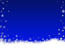 Fiocchi di neve bianchi sull'azzurro illustrazione di stock