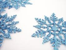 Fiocchi di neve blu 1 Fotografie Stock