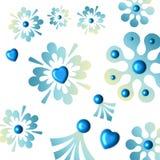 Fiocchi di neve blu Fotografie Stock Libere da Diritti