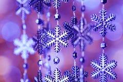 Fiocchi di neve blu Fotografia Stock Libera da Diritti