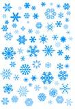Fiocchi di neve blu  Immagine Stock