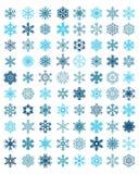 Fiocchi di neve blu differenti Fotografia Stock Libera da Diritti
