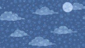 Fiocchi di neve in cielo, ciclo senza cuciture illustrazione di stock