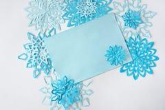 fiocchi di neve da carta Fotografie Stock Libere da Diritti