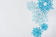 fiocchi di neve da carta Immagine Stock Libera da Diritti