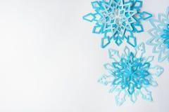fiocchi di neve da carta Fotografia Stock