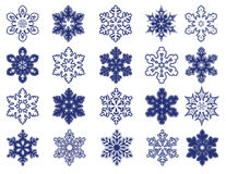 Fiocchi di neve decorativi di vettore Fotografia Stock Libera da Diritti
