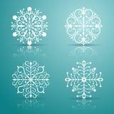 Fiocchi di neve decorativi di vettore impostati Fotografia Stock Libera da Diritti