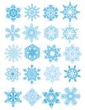 Fiocchi di neve decorativi di vettore messi Fotografia Stock Libera da Diritti