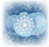 Fiocchi di neve del grafico delle bagattelle di Natale Fotografia Stock Libera da Diritti