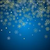 Fiocchi di neve del nuovo anno e di Natale Fotografia Stock