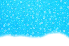 Fiocchi di neve dell'alimentazione Immagini Stock