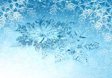 Fiocchi di neve delle decorazioni di Natale Immagini Stock