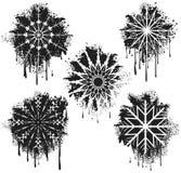 Fiocchi di neve dello spruzzo Fotografia Stock