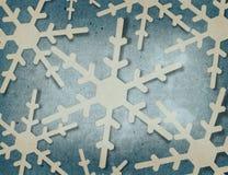 Fiocchi di neve di Applique Immagine Stock