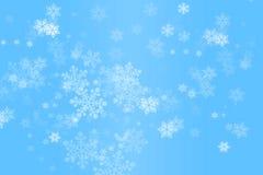 Fiocchi di neve di caduta Fotografie Stock Libere da Diritti