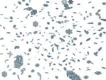 fiocchi di neve di caduta 3D Fotografia Stock Libera da Diritti