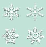 Fiocchi di neve di carta Fotografia Stock