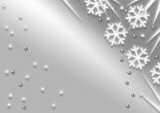 Fiocchi di neve di natale Immagini Stock