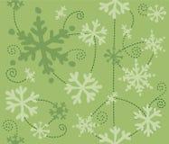 Fiocchi di neve di natale Fotografia Stock