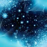 Fiocchi di neve di notte di Natale Fotografie Stock Libere da Diritti