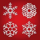Fiocchi di neve di origami di natale Fotografie Stock Libere da Diritti
