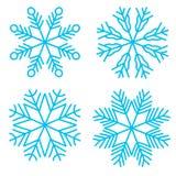 Fiocchi di neve di schizzo di scarabocchio Immagini Stock Libere da Diritti