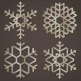 Fiocchi di neve di vecchio documento Fotografie Stock