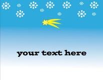 Fiocchi di neve e cometa di Natale Fotografie Stock Libere da Diritti