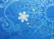 Fiocchi di neve e stelle astratti del fondo di natale Immagine Stock