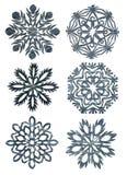 Fiocchi di neve fatti a mano Immagini Stock