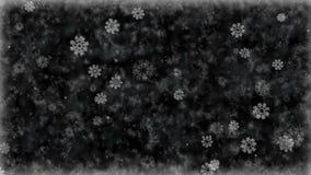 Fiocchi di neve gelidi su fondo congelato Animazione senza cuciture del ciclo della vacanza invernale illustrazione vettoriale