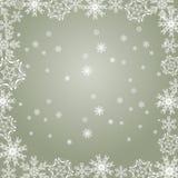 Fiocchi di neve grigi Fotografia Stock Libera da Diritti