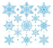 Fiocchi di neve - illustrazione Immagini Stock