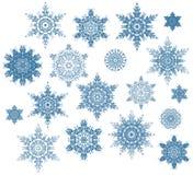 Fiocchi di neve impostati Fotografia Stock Libera da Diritti