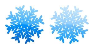 Fiocchi di neve lucidi blu Fotografia Stock Libera da Diritti