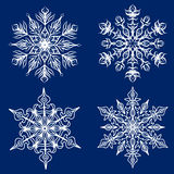 Fiocchi di neve messi Immagine Stock Libera da Diritti