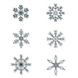 Fiocchi di neve messi Fotografia Stock