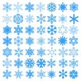 Fiocchi di neve messi Fotografia Stock Libera da Diritti