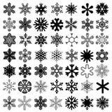 Fiocchi di neve messi Immagini Stock Libere da Diritti
