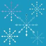 Fiocchi di neve Openwork Immagine Stock