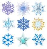 Fiocchi di neve per l'illustrazione di disegno Fotografie Stock